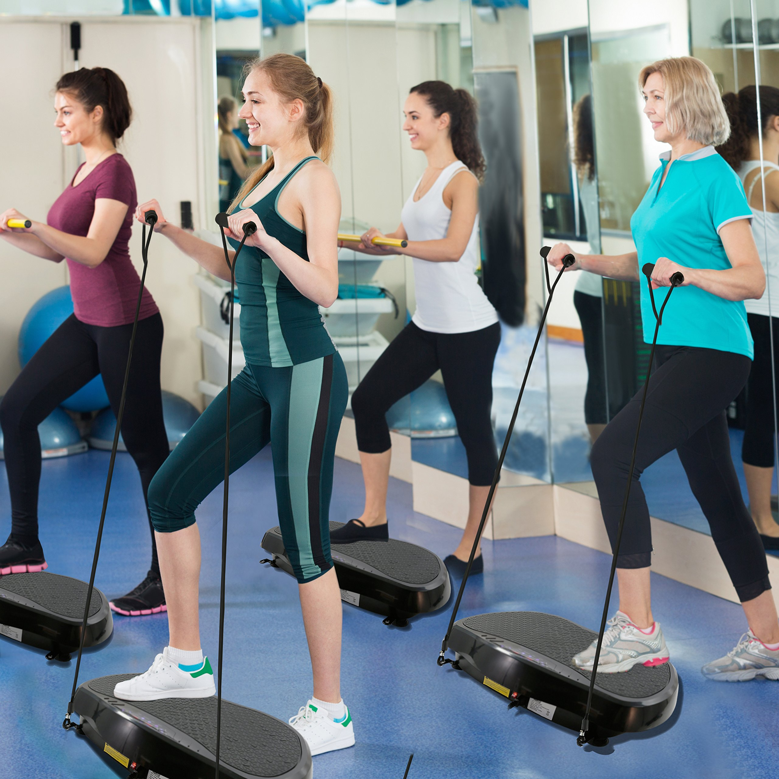 Hurtle Crazy Fit Vibration Fitness Machine - Anti-Slip Vibrating Platform Exercise & Workout Trainer, with Built-in Bluetooth Speakers, Ideal for All Body Types & Age Groups. (HURVBTR35BT) by Hurtle (Image #8)