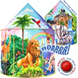 W&O Jungle Adventure Kids Tent with Jungle Call Button, Pop Up Tent Kids, Interactive Kids Play Tent, Outdoor and Indoor…