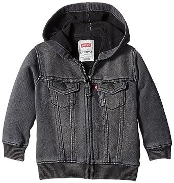0d08756d5157 Amazon.com  Levi s Baby Boys  Indigo Knit Denim Hoodie  Clothing