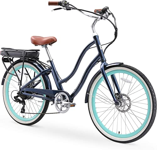sixthreezero EVRYjourney Women s Step-Through Hybrid Alloy Beach Cruiser Bicycle 24-Inch, 26-Inch, and eBike