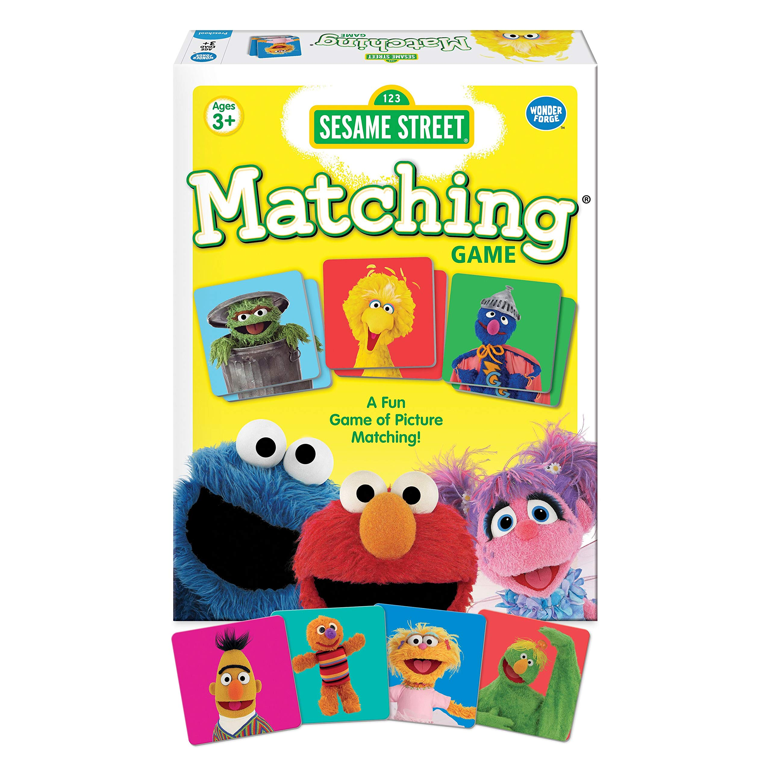 Wonder Forge Sesame Street Matching for Boys & Girls Age 3 to 5 - A Fun & Fast Muppet Memory Game