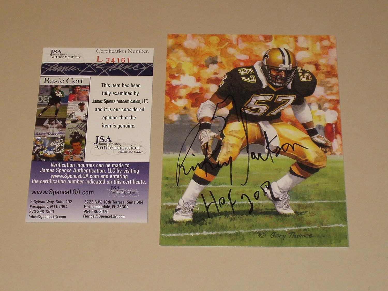 92f9fe9e5c5 Amazon.com  Rickey Jackson Autographed GLAC Goal Line Art Card with HOF 11  - New Orleans Saints (JSA COA)  Sports Collectibles