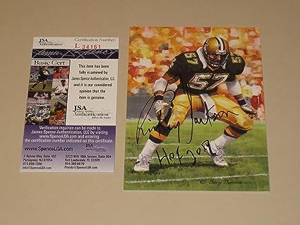 Rickey Jackson Autographed GLAC Goal Line Art Card with HOF 11 - New  Orleans Saints ( 6a763d082