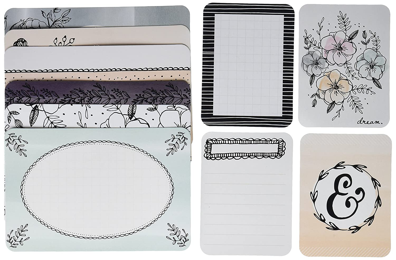 American Crafts Minc progetto vita a tema schede Charming (16) 4 x 15 e (24) 7,6 x 12,7, in acrilico,, 3 pezzi 6x 12 3pezzi 380608