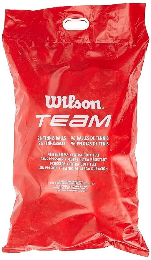 Wilson Team Trainer Pelotas de tenis, bolsa con 96 pelotas, amarillo