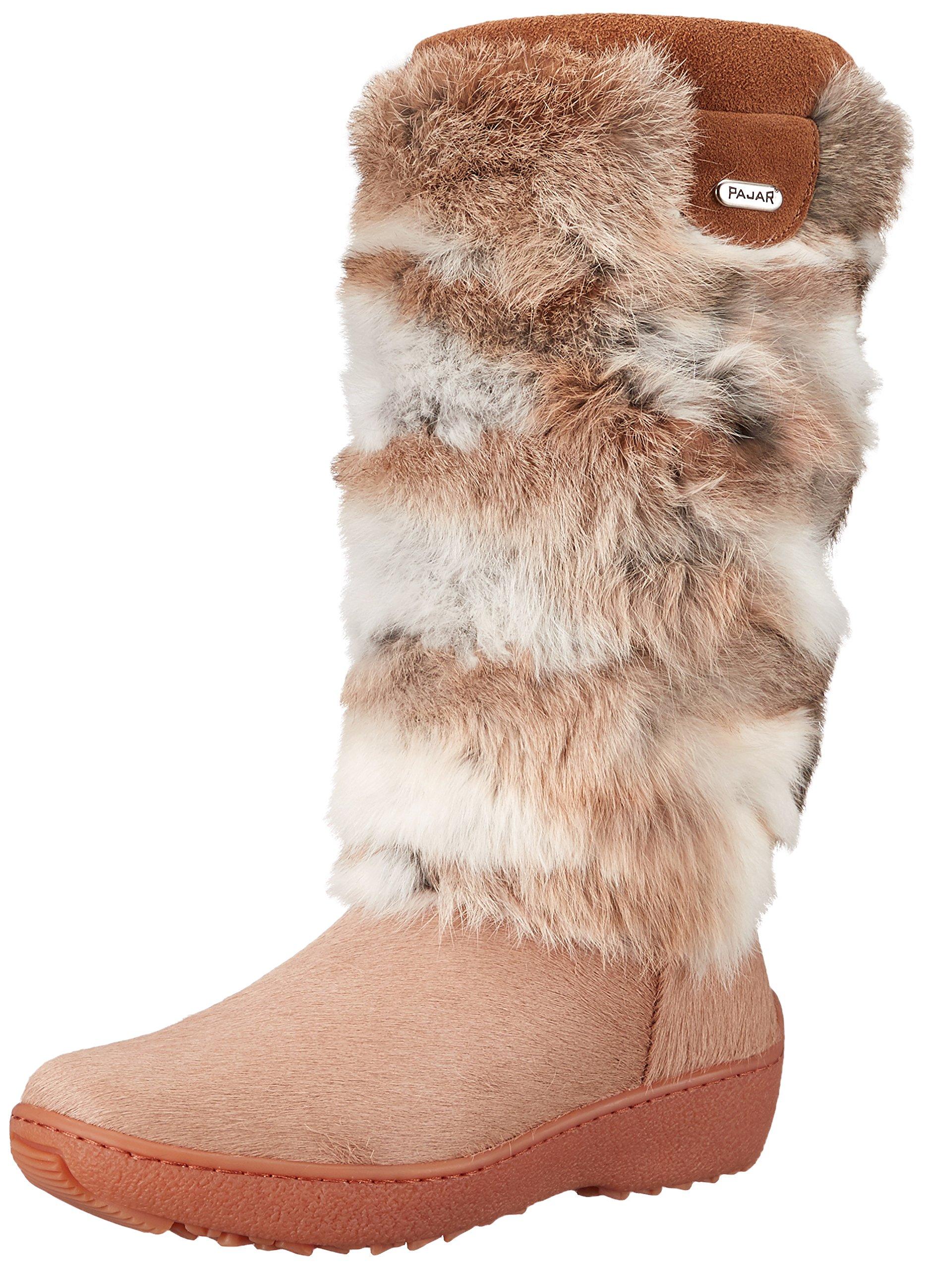 Pajar Women's Foxy Boot, Beige Rabbit, 41 EU/10 M US