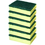 Cello Kleeno Sponge Scrub Pad (Green and Yellow, Pack of 6)