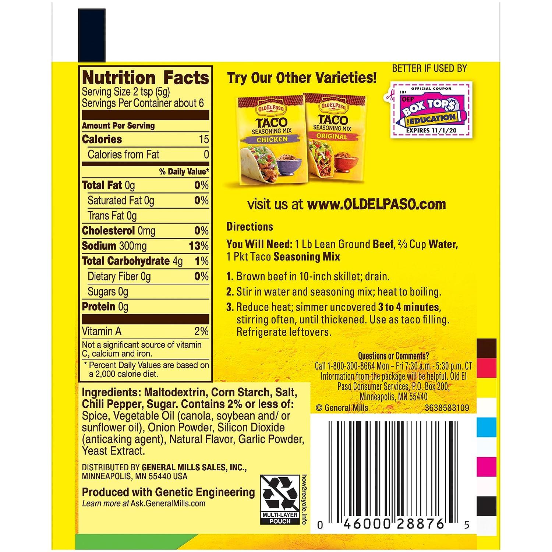 Amazon Old El Paso Taco Mild Seasoning Mix 1 Oz Packet