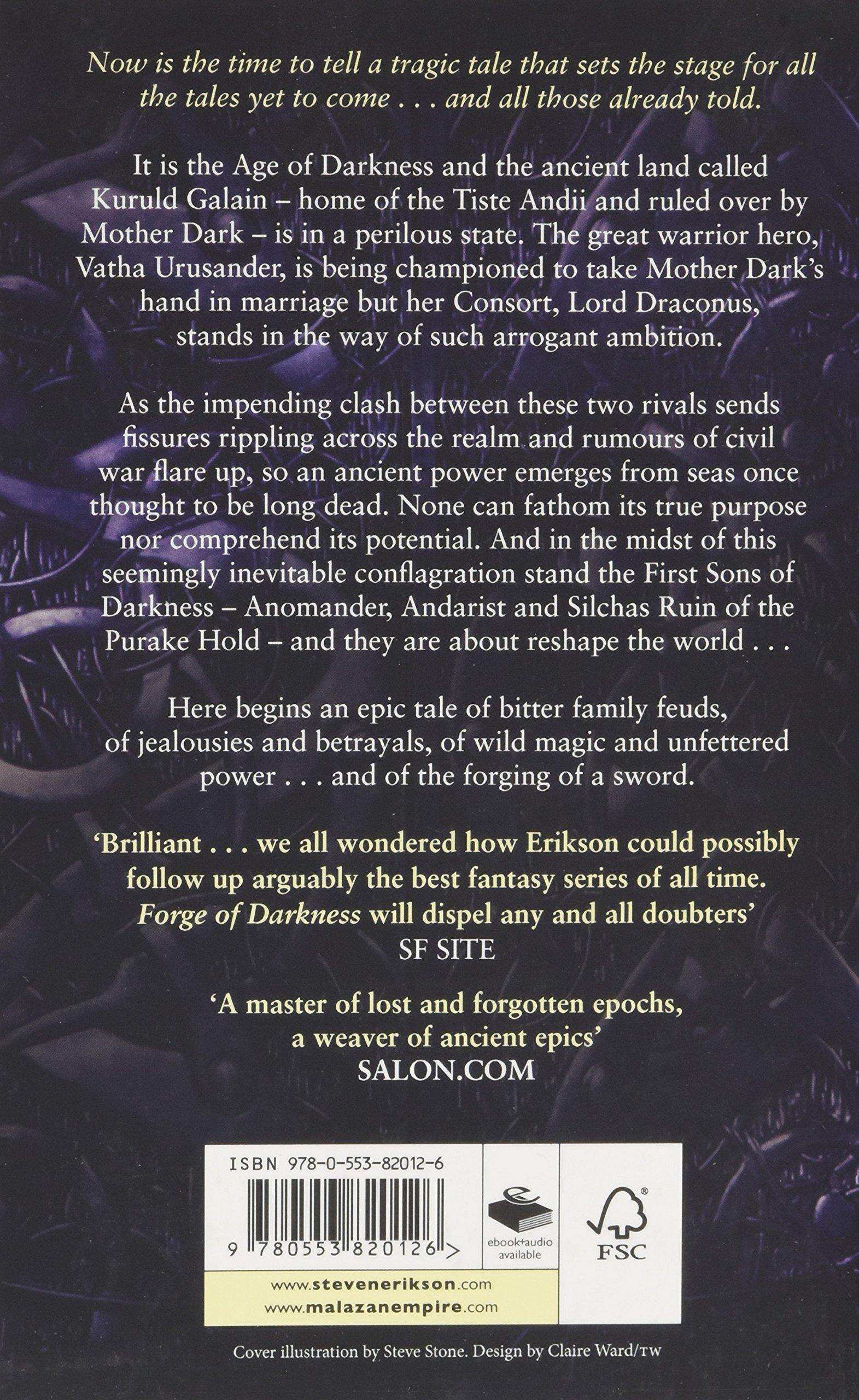 Forge Of Darkness: Epic Fantasy: Kharkanas Trilogy 1: Amazon: Steven  Erikson: 9780553820126: Books