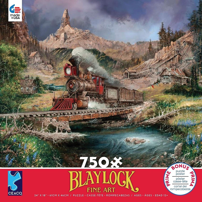 750 Pieces Ceaco 2921-5 Nuggetville Blue Sky Puzzle Blaylock