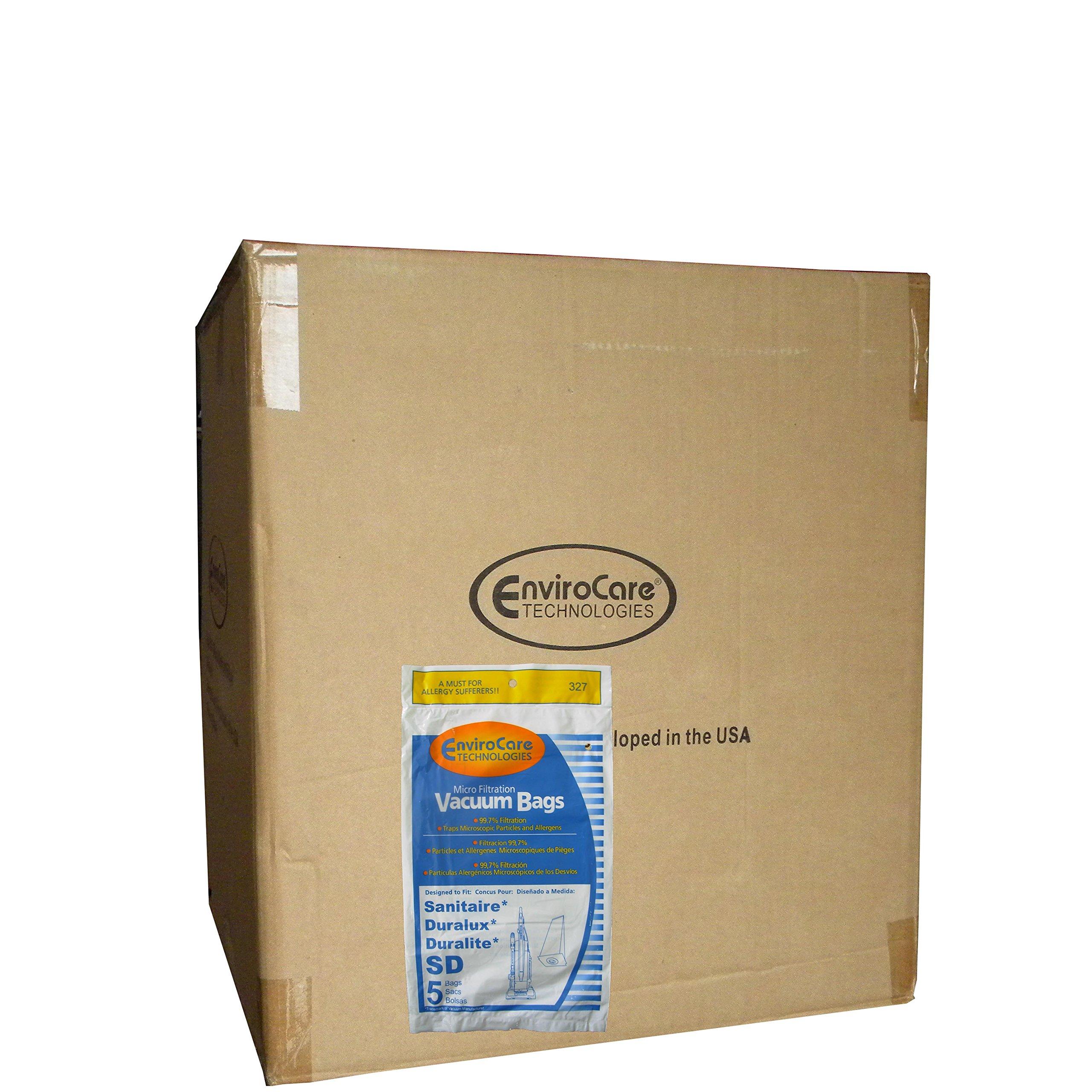 1/2 Case (25 pkgs) Sanitaire Duralux Style SD 63262 Vacuum Cleaner Bags Models Electolux Upright, Commercial Upright, DuraLux Professional, ProSense X2 Upright