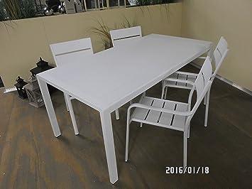 Tisch Esstich Gartentisch Alaska 180x92x76 Cm Aluminium Weiss Amazon