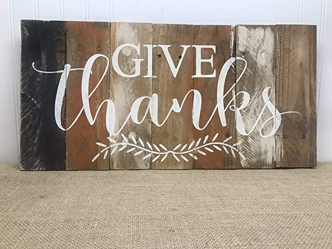 Image result for give thanks wood pallet