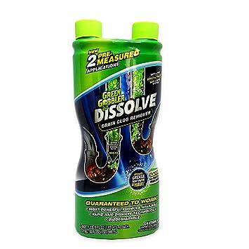 green gobbler dissolve liquid hair u0026 grease clog remover drain opener drain cleaner