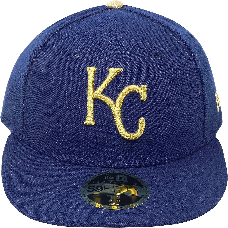 New Era 59Fifty Hat MLB Kansas City Royals Low Profile Alternate Royal Blue Cap