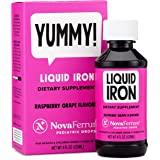 NovaFerrum Pediatric Drops Liquid Iron Supplement for Infants and Toddlers 4 fl oz (120 mL) - Raspberry Grape