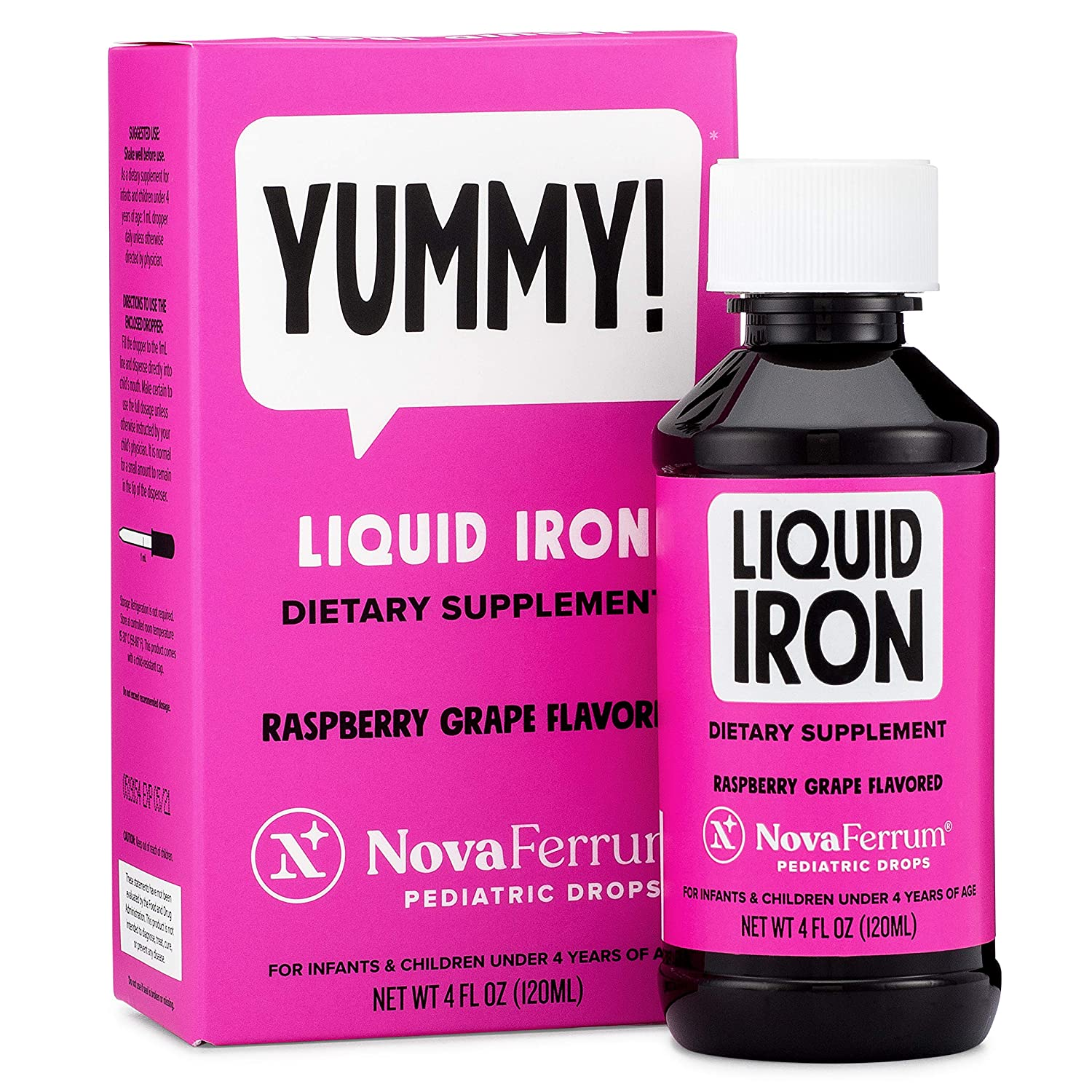 NovaFerrum Pediatric Drops Liquid Iron Supplement for Infants and Toddlers