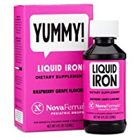 NovaFerrum Pediatric Drops Liquid Iron Supplement for Infants and Toddlers 4 fl...