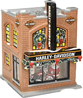 Amazon Com Dept 56 Christmas In The City Harley Davidson