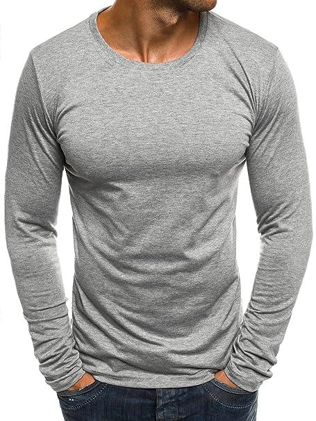OZONEE Mix Herren Longsleeve Langarmshirt Sweatshirt Motiv Basic Fitness  Sport Gym Training Täglichen Crewneck Modern Streetwear J.Style 2088  Amazon .de  ... 69acc6e5e2