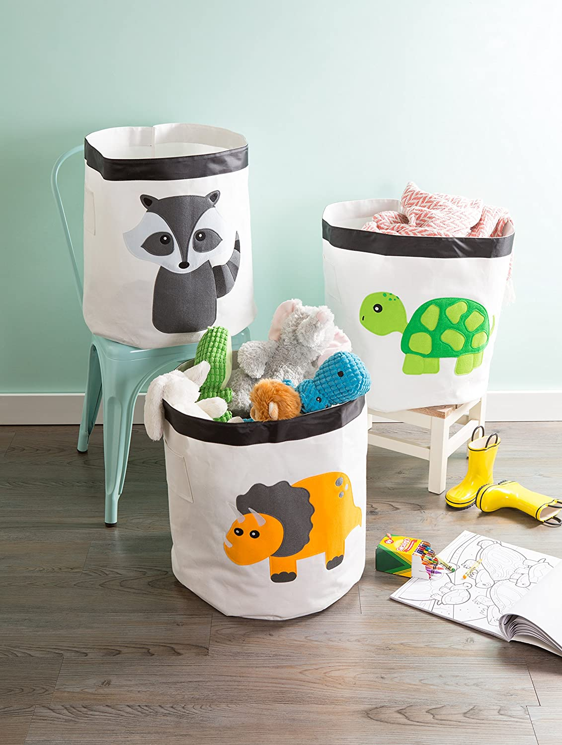 Playroom and More 13x13x13 Swan Z01948 Nursery E-Living Store Collapsible Storage Bin Cube for Bedroom