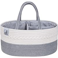 Baby Diaper Caddy Organizer - Large Portable Basket For Nappy Changing, Newborn Diaper Storage Registry, Foldable Nappy…