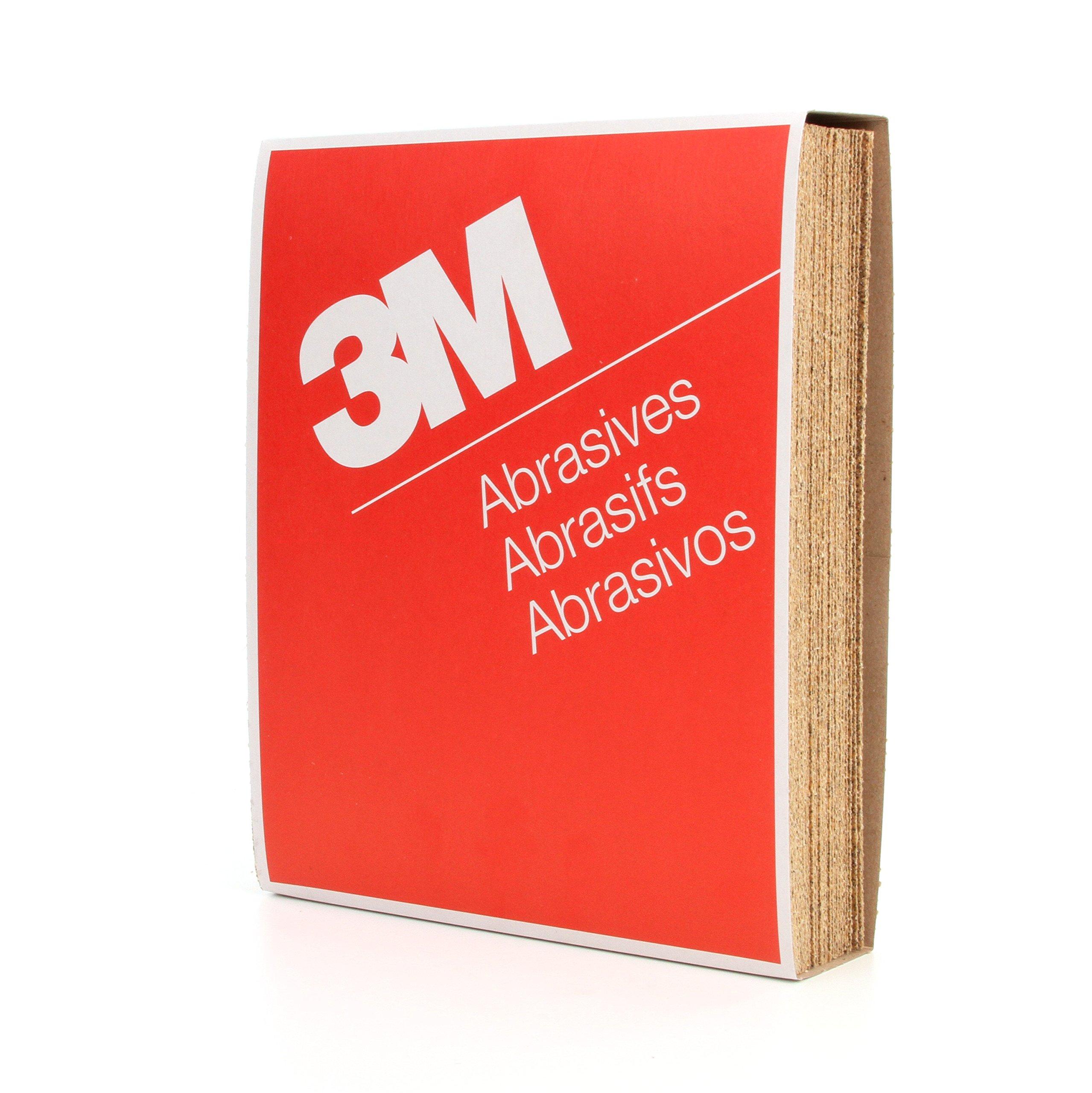 3M Paper Sheet 346U, Aluminum Oxide, 9'' Width x 11'' Length, 40 Grit, Gold (Pack of 50)