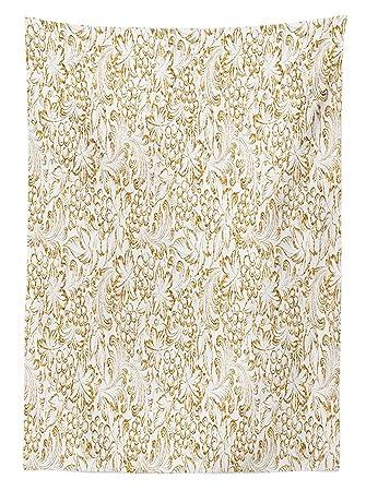 Küche Decor Tischdecke Golden Weinrebe Classic Viktorianisches Muster  Einladung Hintergrund Wein Dine Illustration Esszimmer Küche Tisch