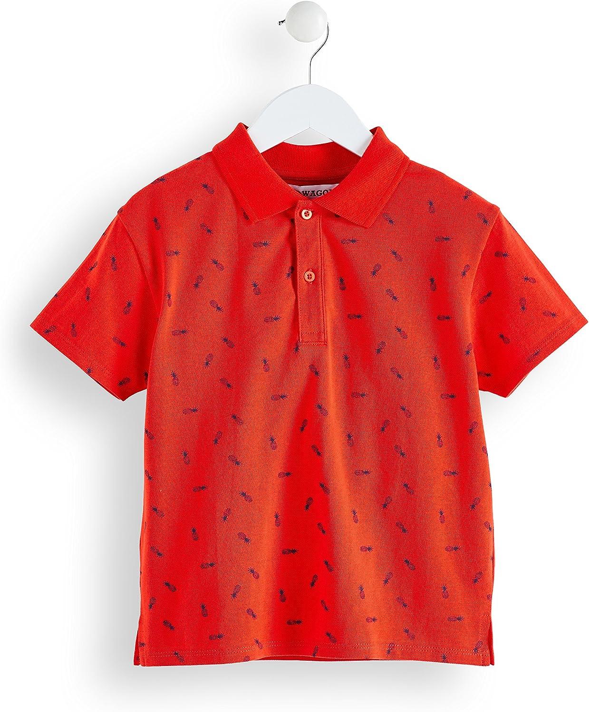 Marke RED WAGON Jungen Poloshirt mit Ananas-Muster