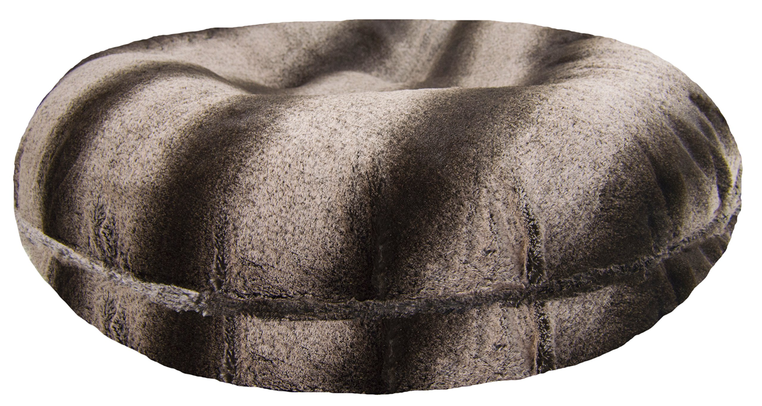 BESSIE AND BARNIE Signature Frosted Glacier Luxury Extra Plush Faux Fur Bagel Pet/Dog Bed (Multiple Sizes) by BESSIE AND BARNIE (Image #1)