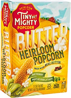 product image for Tiny But Mighty Butter Heirloom Popcorn, for the Microwave, Pack of 8