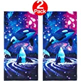 KAUFMAN - Space Orcas Printed Beach Towel (106044) - 2 Pack Set