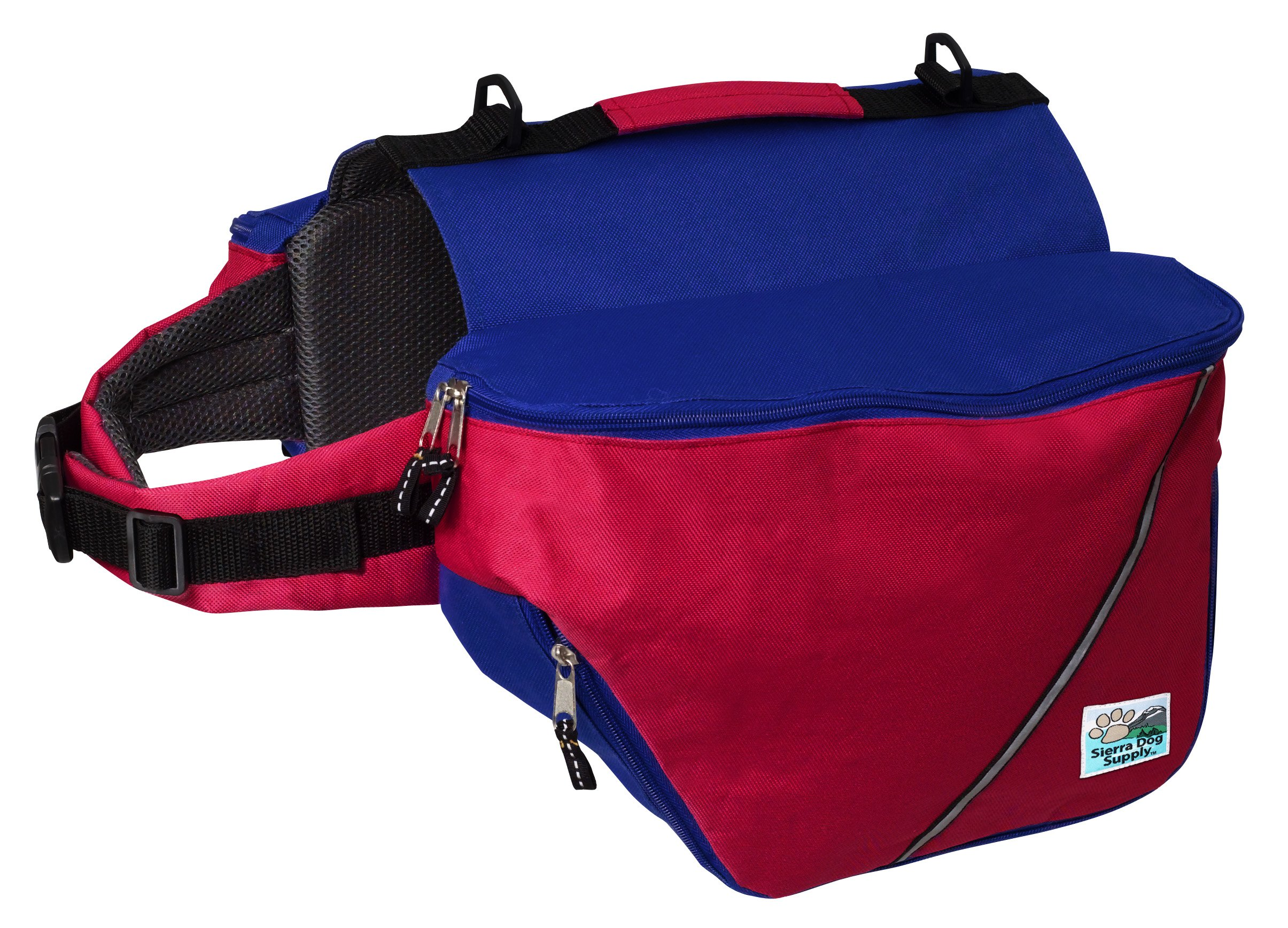 Doggles Dog Backpack, XXS, Red/Blue