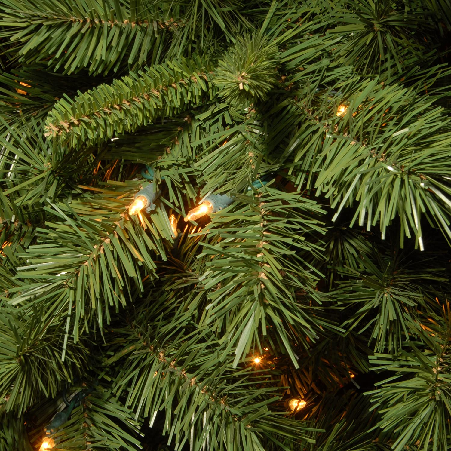 Amazon.com: National Tree 7.5 Foot Lehigh Valley Pine Slim Tree with ...