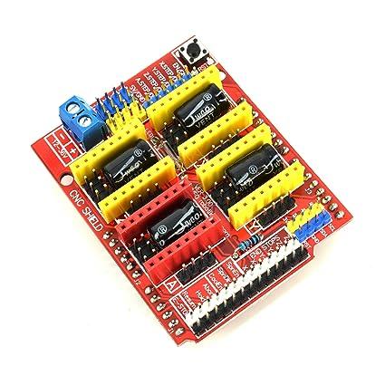 Amazon com: CNC Shield Board for Arduino having 4 A4988