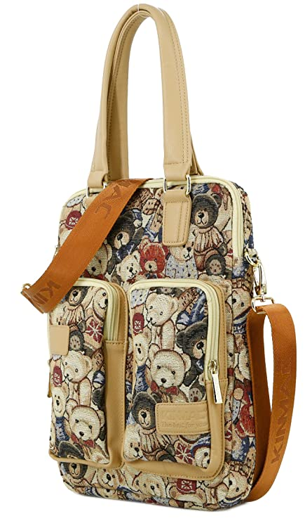 686b1bb2ac Amazon.com  Kinmac Bear Vertical Style 13 inch Laptop Shoulder Messenger Bag  for Macbook Pro Air 13 and 11 Inch 12 Inch 13.3 Inch Laptop  Computers   ...