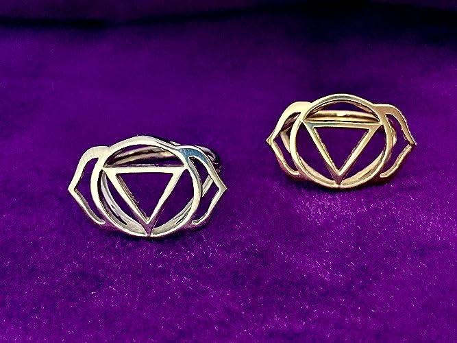 Amazon Ajna Third Eye Chakra Ring In Silver Handmade