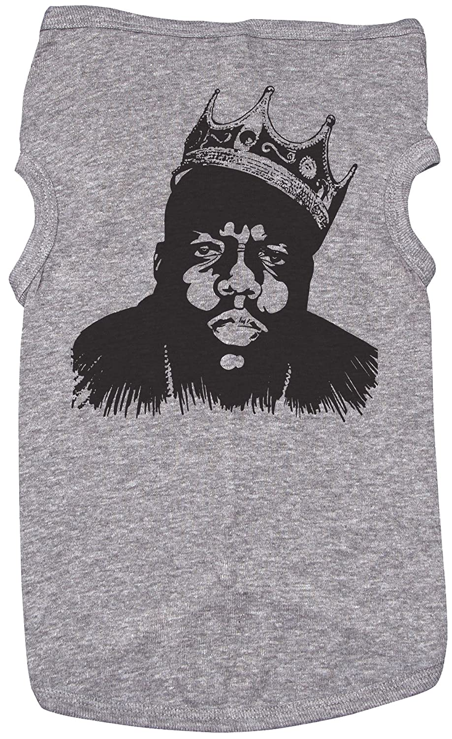Large Biggie Smalls Shirt for Dogs Biggie Smalls Grey Top for Dogs and Puppies (Large)