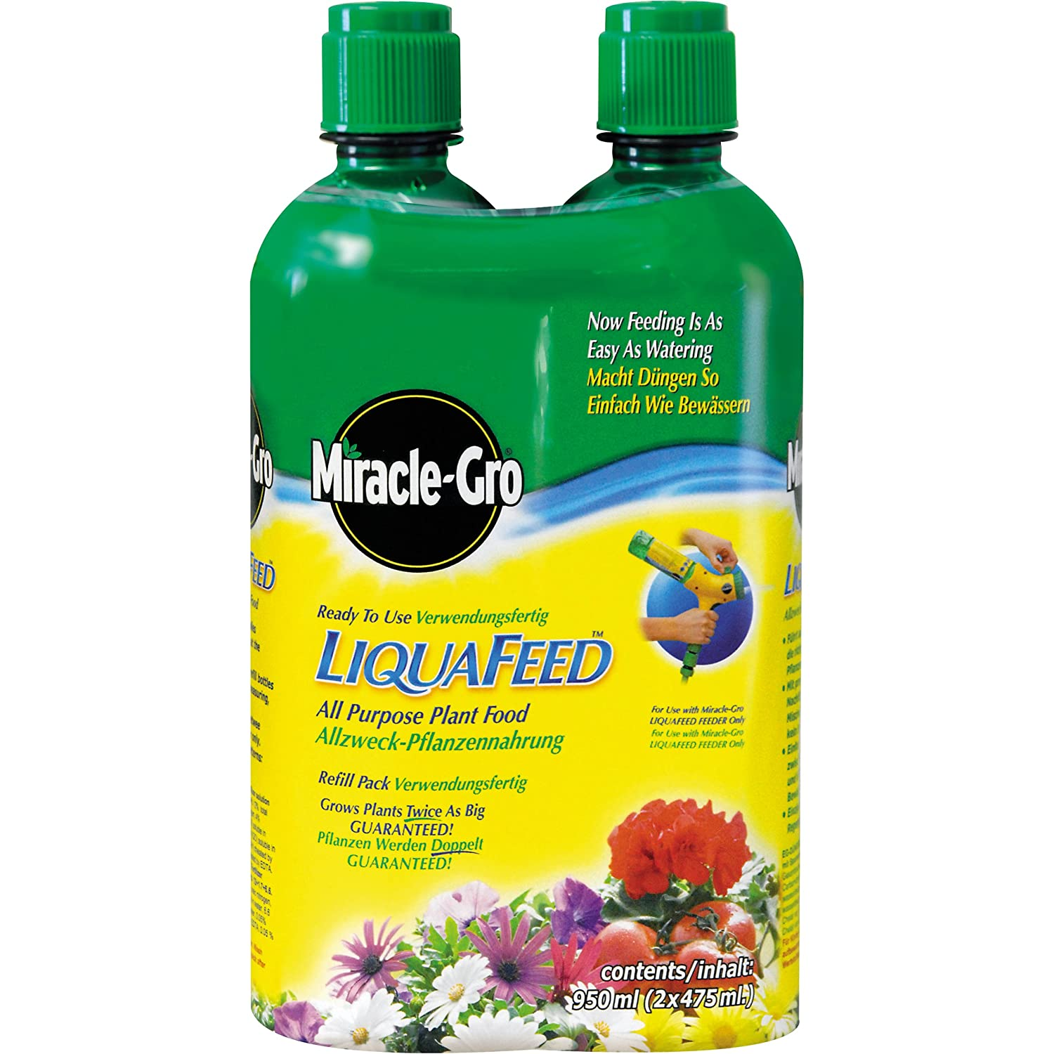 Miracle-Gro LiquaFeed All Purpose Plant Food Refills 2 Pack Evergreen Garden Care Ltd 016743 B000WNF0G4 Weed / Feed / Seed