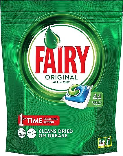 Fairy Original Todo en 1 - Cápsulas de Lavavajillas - Pack de 44 ...
