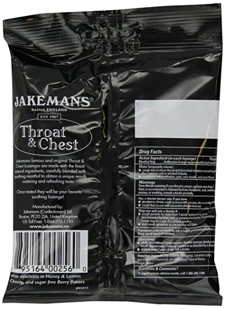 Jakemans Anise Throat & Chest 30 count Lozenge Bag: Amazon.in: Beauty