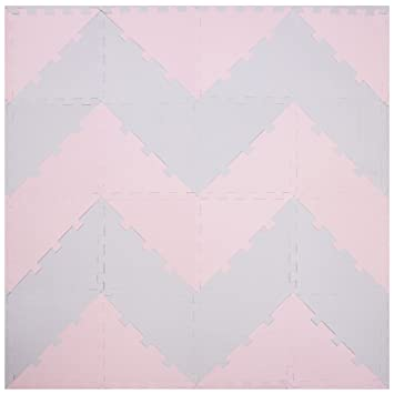 Foam Floor Tiles Triangle Chevron Design Floor Mats for Kids Baby Floor Mat Play Mat Crawling Mat