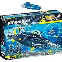 PLAYMOBIL® Top Agents 2er Set 70005 7350 Team S.H.A.R.K. Drill Destroyer + Unterwassermotor