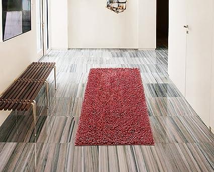 Amazoncom Vcny Home Gala Bathroom Rug 24 X 60 Coral Home Kitchen