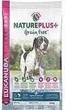 Eukanuba NaturePlus+ Grainfree, getreidefreies Trockenfutter für ausgewachsene Hunde aller Rassen, reich an gefrierfrischem Lachs
