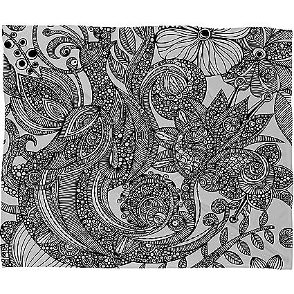 Amazon Deny Designs Valentina Ramos Bird In Flowers Black White