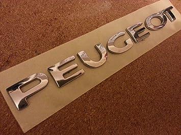 PEUGEOT CHROME EMBLEM CAR BADGE SCRIPT LOGO BOOT FIT PEUGEOT CARS ...