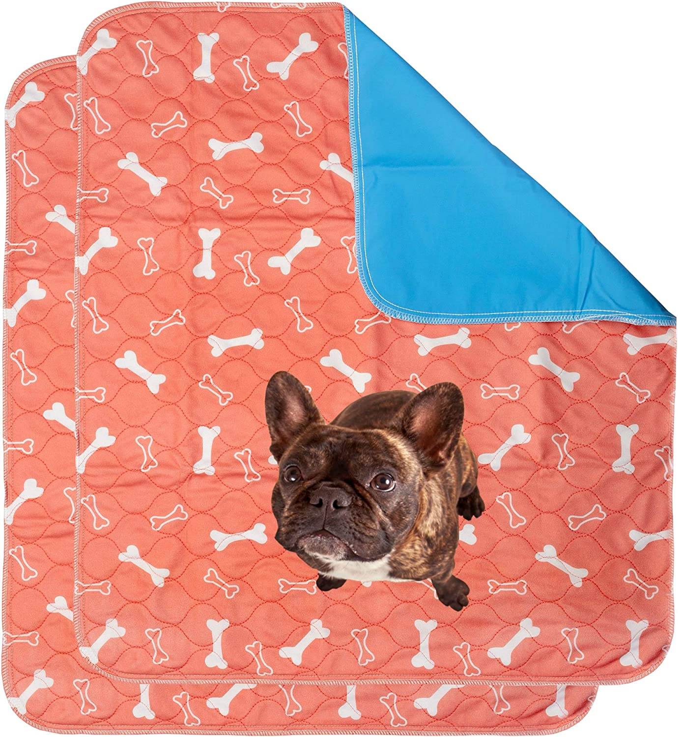 Free Puppy Training eBook 2 Pack Washable Pee Pads for Dogs Sm//Md//Lg Super Absorbent Whelping Pads w//Odor Control /& Waterproof Backing| Protect Indoor Floor /& Carpet Reusable Dog Wee Wee Pads