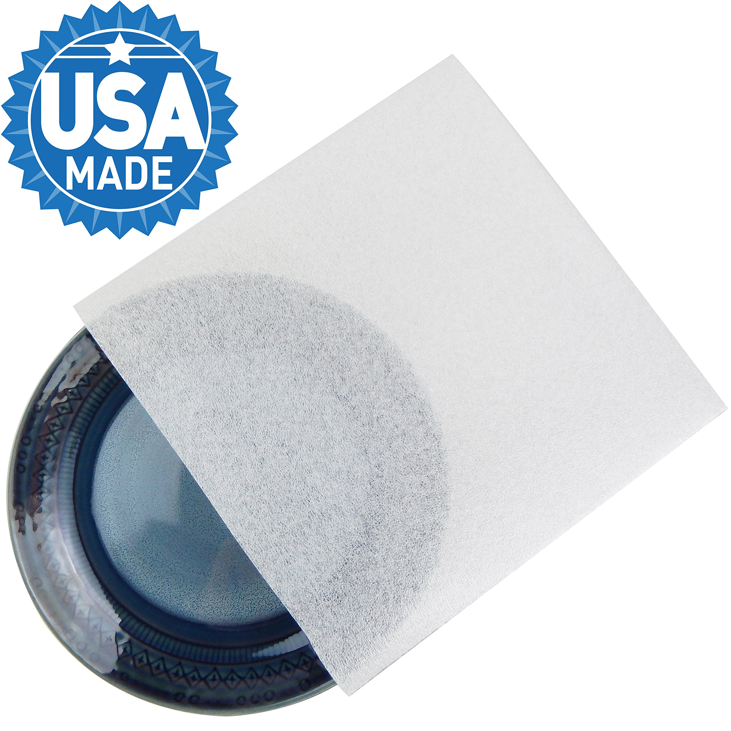Foam Pouches, DAT 9.5'' x 9.5'' Foam Wrap Cushioning for Moving and Storage, Packing Supplies (60 Pack - 9.5'' x 9.5'')