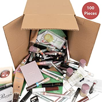 100 Piece Wholesale Bulk Makeup Assorted Cosmetics Box Kit Lot Set